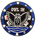 Patch rond 4B3 Owl In - 7 euros