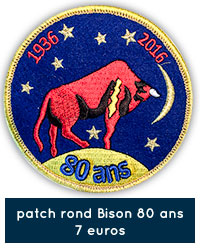 Patch rond Bison 80 ans - 7 euros