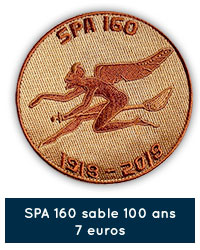 Patch rond SPA 160 sable 100 ans - 7 euros