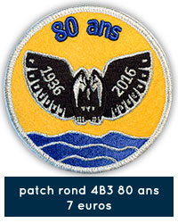 Patch rond 4B3 80 ans - 7 euros